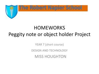 HOMEWORKS  Peggity  note or object holder Project