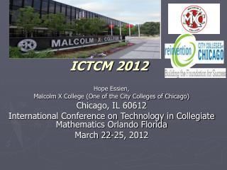 ICTCM 2012