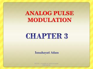 ANALOG PULSE MODULATION