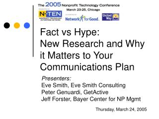 Fact vs Hype:  New Research and Why it Matters to Your Communications Plan