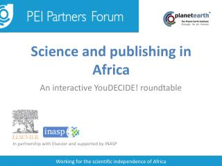 Science and publishing in Africa