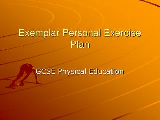 Exemplar Personal Exercise Plan