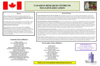CANADIAN RESEARCH CENTRE ON INCLUSIVE EDUCATION