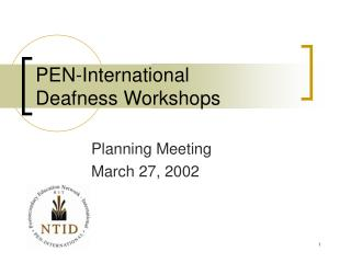 PEN-International  Deafness Workshops