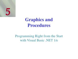 Graphics and Procedures