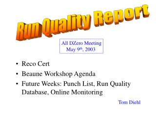 Run Quality Report