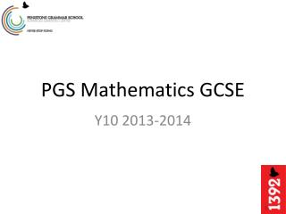 PGS Mathematics GCSE
