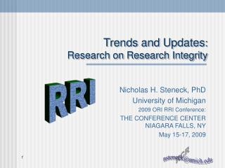 Trends and Updates :  Research on Research Integrity