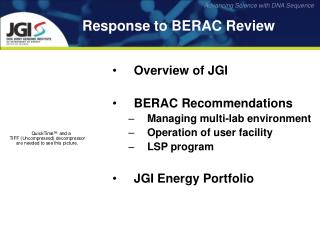 Response to BERAC Review