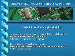 LAB2104 @ TECHNICAL UNIVERSITY OF PLOVDIV