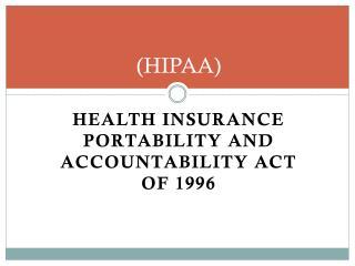 (HIPAA)