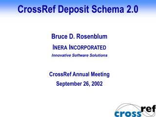 CrossRef Deposit Schema 2.0