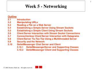 Week 5 - Networking