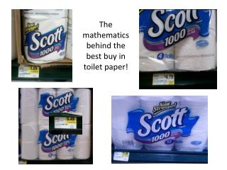The mathematics behind the best buy in toilet paper!