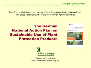 The German National Action Plan on Sustainable Use of Plant Protection Products
