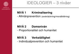 IDEOLOGIER   3 niv er