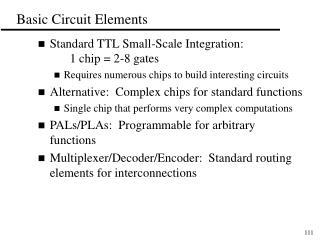 Basic Circuit Elements