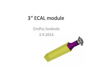 "3"" ECAL module"