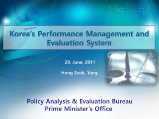 Korea's Performance Management and Evaluation System