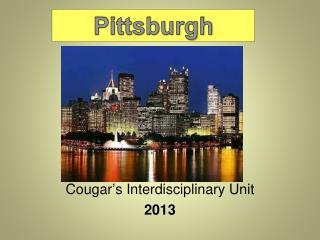 Cougar's Interdisciplinary Unit  2013