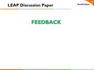LEAP Discussion Paper