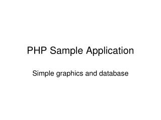 PHP Sample Application