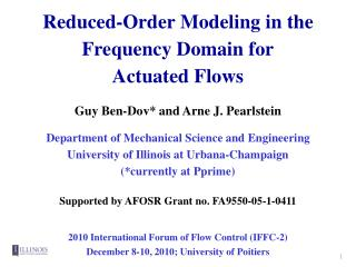 Reduced-Order Modeling in the Frequency Domain for Actuated Flows