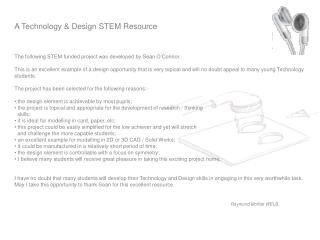 A Technology & Design STEM Resource
