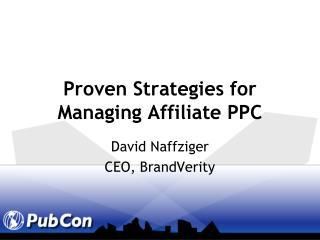 Proven Strategies for Managing Affiliate PPC