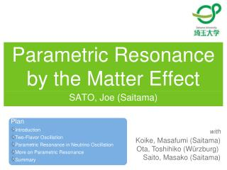 Parametric Resonance by the Matter Effect