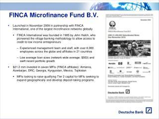 FINCA Microfinance Fund B.V.
