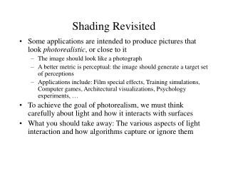 Shading Revisited