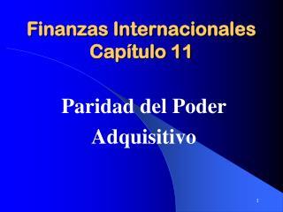 Finanzas Internacionales Capítulo 11