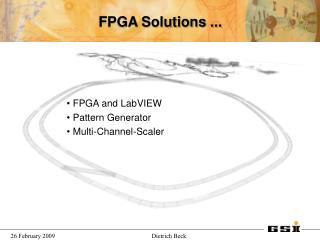 FPGA Solutions ...