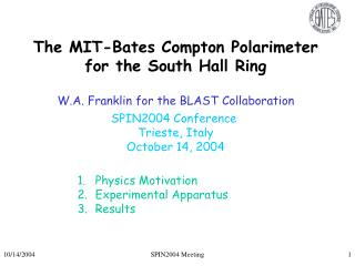 The MIT-Bates Compton Polarimeter for the South Hall Ring
