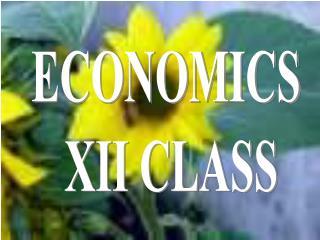 ECONOMICS  XII CLASS