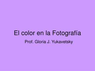 El color en la Fotograf a