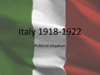 Italy 1918-1922