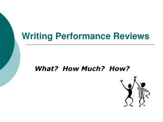 Writing Performance Reviews