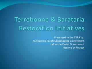 Terrebonne & Barataria Restoration Initiatives