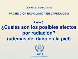 Parte 3. ¿Cuáles son los posibles efectos por radiación? (además del daño en la piel)