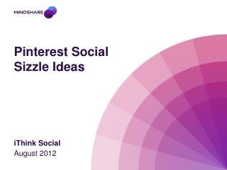Pinterest  Social Sizzle Ideas