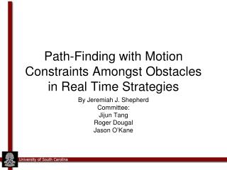 Path-Finding with Motion Constraints Amongst Obstacles in Real Time Strategies