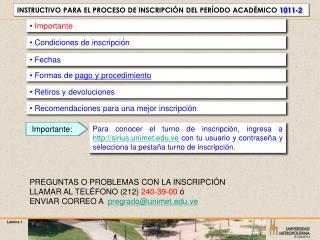 Formas de pago y procedimiento
