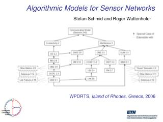 Algorithmic Models for Sensor Networks
