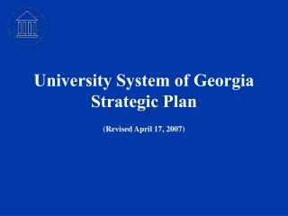 University System of Georgia Strategic Plan