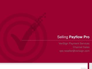 Selling  Payflow Pro
