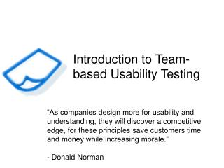 Introduction to Team-based Usability Testing