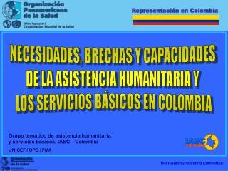 NECESIDADES, BRECHAS Y CAPACIDADES  DE LA ASISTENCIA HUMANITARIA Y