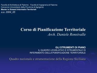 Quadro nazionale e strumentazione della Regione Siciliana